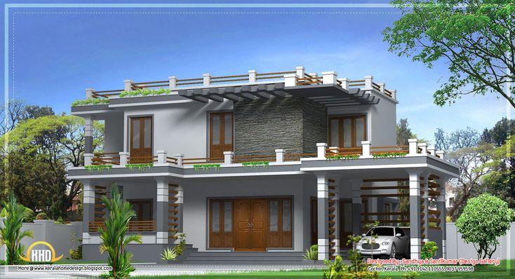 Modern home design in Kerala - 2520 Sq.Ft. - April 2012
