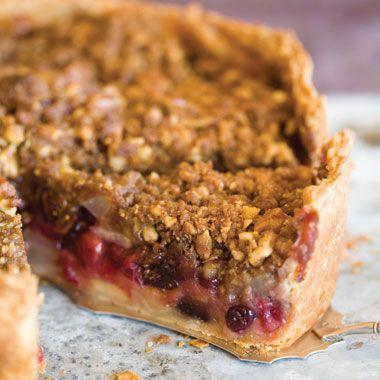 Deep-Dish Winter Fruit Pie with Walnut Crumb Recipe   at Epicurious.com