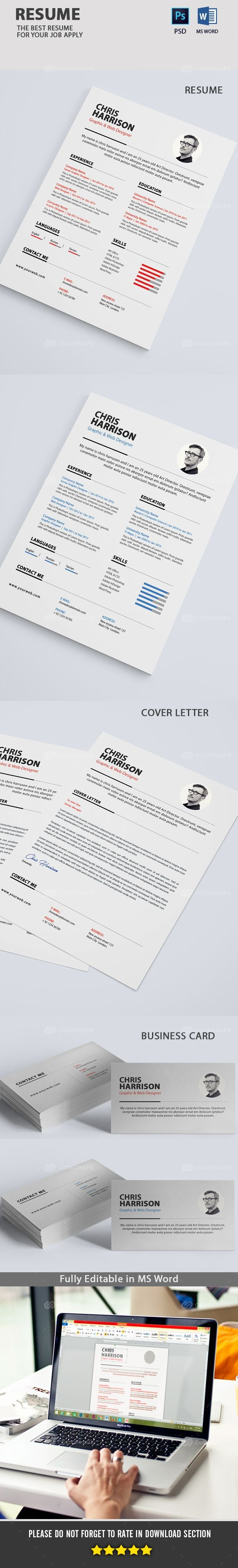 Clean Resume 121 best Resumes PSD images