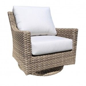 Riverside Outdoor Wicker Patio Furniture Swivel Glider