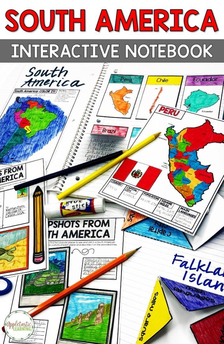 South America Geography And Maps Interactive Notebook In 2020