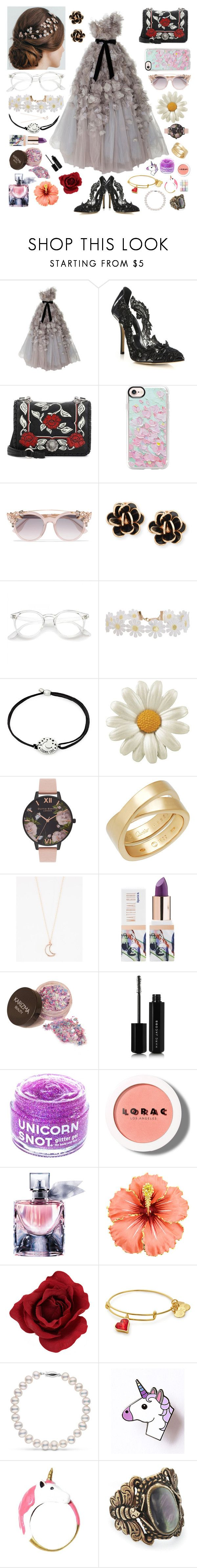 """""""Would you care for a dance?~"""" by lost-masked-kitten ❤ liked on Polyvore featuring Marchesa, Oscar de la Renta, Miu Miu, Casetify, Jimmy Choo, Chantecler, Humble Chic, Alex and Ani, Olivia Burton and Full Tilt"""