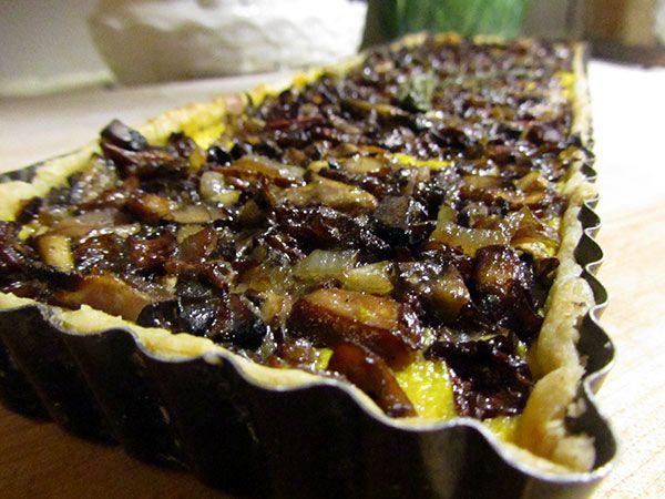 Vegan Butternut Squash & Mushroom Tart | Vegan Main Dishes | Pinterest