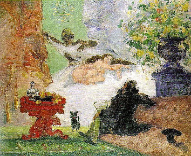 Paul Cézanne, Una moderna Olimpia, 1873-1874, olio su tela, Museo d' Orsay, Parigi.