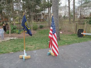 How to build a Cub Scout flag stand. We would need the pole different but the stand looks great.
