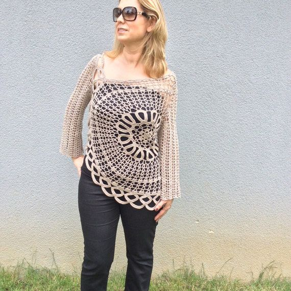 Hey, I found this really awesome Etsy listing at https://www.etsy.com/listing/237311801/crocheted-long-sleeve-ecru-summer-spring