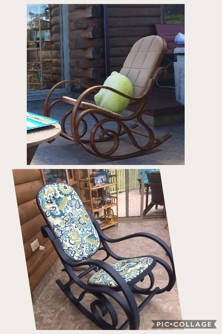 Bentwood Rocking Chair Repair - Vintage bentwood rocking chair makeover