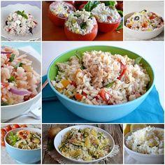 Raccolta insalate di riso,tante idee di primi freddi da portare in spiaggia,pic nic o per un buffet
