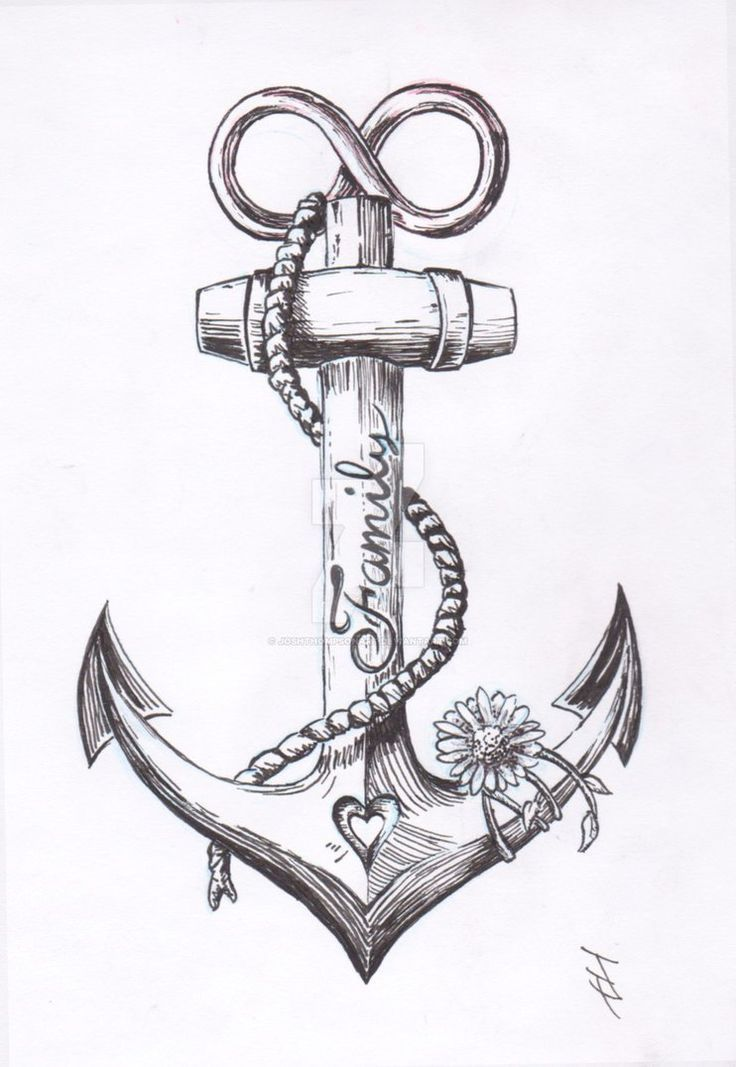 Anchor Tattoo Design von JoshThompsonART.d… auf … – #Anchor #auf #Design #Jo