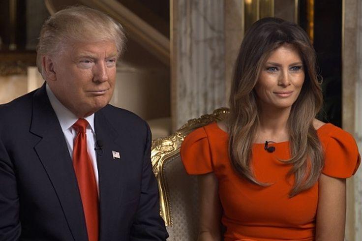 O presidente eleito Donald Trump e sua esposa, Melania