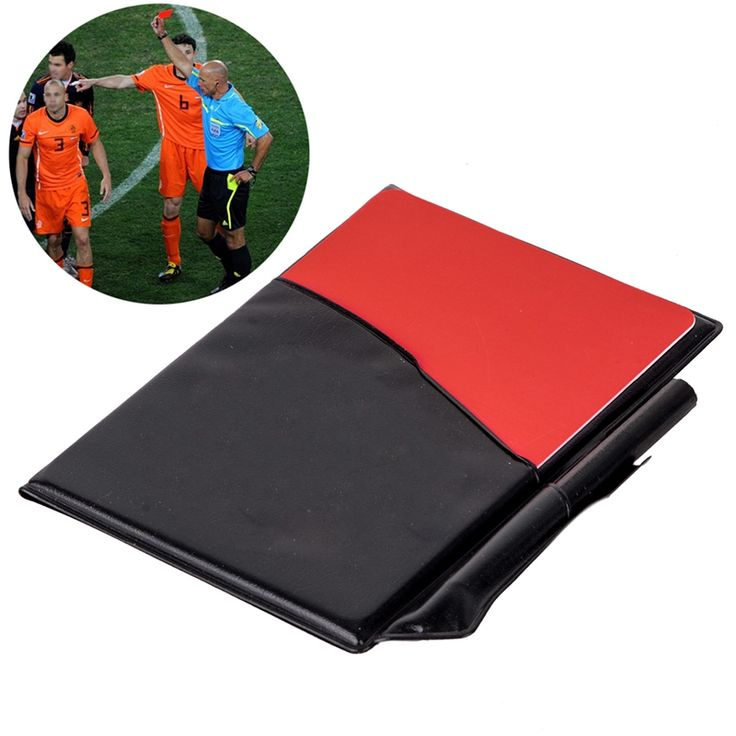 Mayitr Professional Soccer Referee Supplies Football Red Card / Yellow Card Game Appliances with Holster and Pencil Notebook #Affiliate