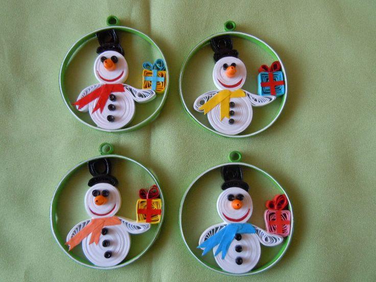 2013 Christmas decorations - my own original designs - Facebook.com/Zen Quilling