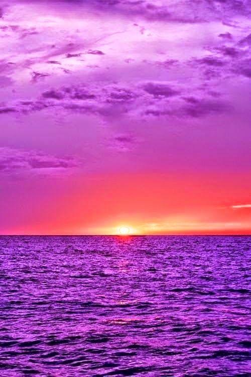 Nature Landscape Photos Purple Ocean Beautiful