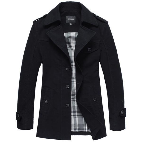 Мужская одежда бутик длинное пальто
