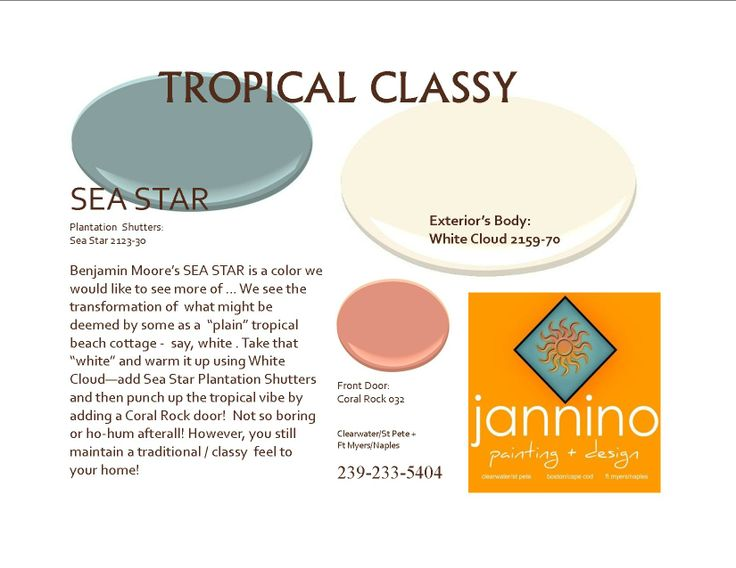 1000 images about beach house paint picks benjamin for Tropical paint colors