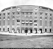 Yankee Stadium was a stadium located in The South Bronx in New York City, in the U.S. state of New York. It was the home ballpark of the New York Yankees, one of the city's Major League Baseball franchises, from 1923 to 1973 and from 1976 to 2008.