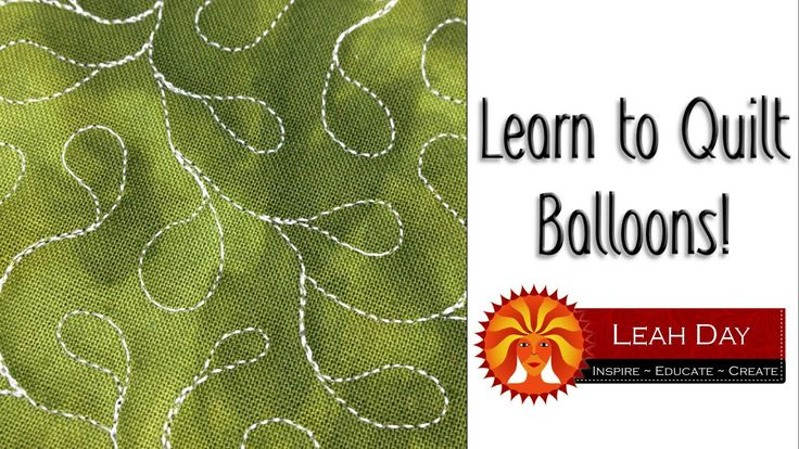 Tutorial - Learn how to machine quilt Balloons, a super easy quilting design that will fill your quilts with cheerful shapes. http://freemotionquilting.blogspot.com/201...