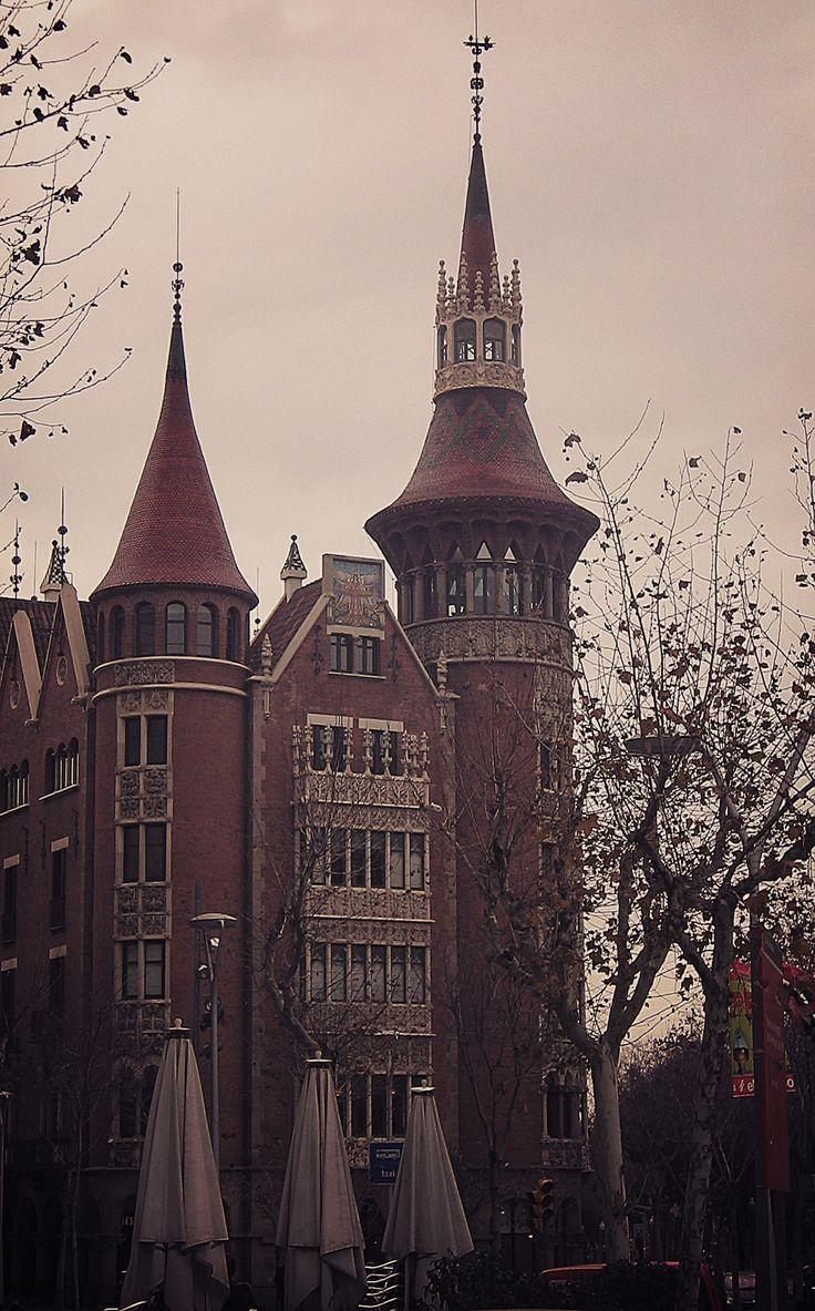 Casa Terrades (Casa de les Punxes) Another great part of architecture in Barcelona. #barcelona #spain #europe #tourist #map #bucket
