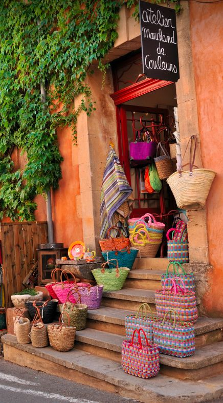 French Market Bags at Atelier Marchand de Couleurs in Provence, France • Dan Romeo Photographer on Flickr