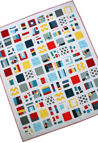Red Pepper Quilts: Kona Modern Quilts ~ A Fun(ky) Finished Quilt: Quilts Patterns, Kona Modern, Beautiful Quilts, Colors Baby, Red Peppers Quilts, Fun Ki, Finish Quilts, Finish Projects, Modern Quilts