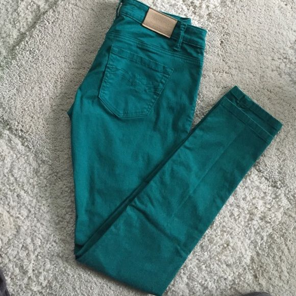 Skinny jeans Super soft and comfy Francomina skinny jeans in teal. Like new. In excellent condition. Very similar to AG skinny jeans. Jeans Skinny