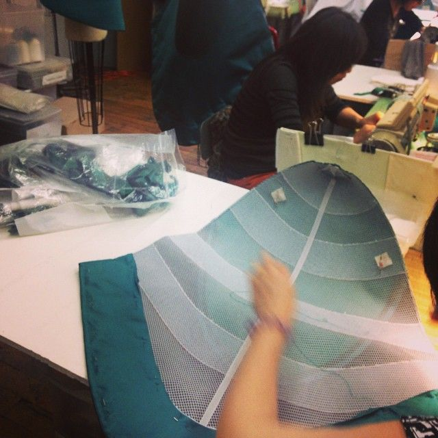 in the zac posen atelier process. #zacposen