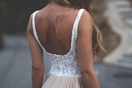beautiful back and summer tan.
