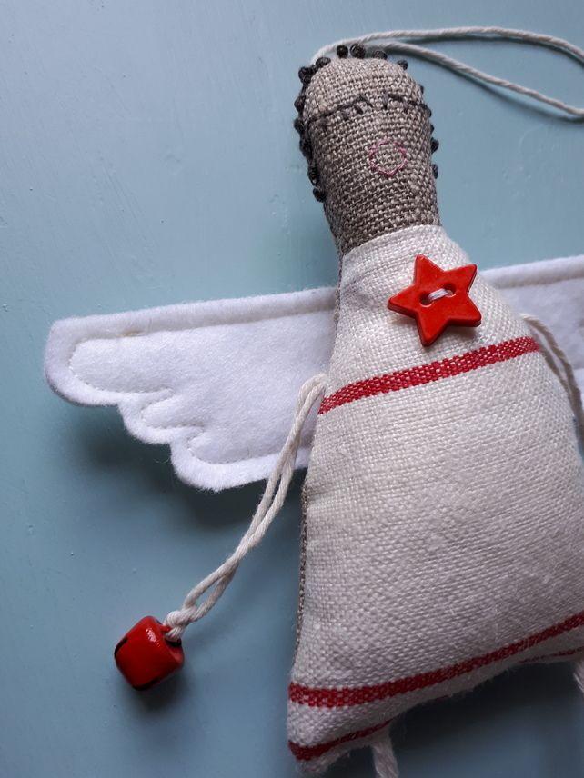 Small Handmade Christmas Angel Decoration No 10 £18.00