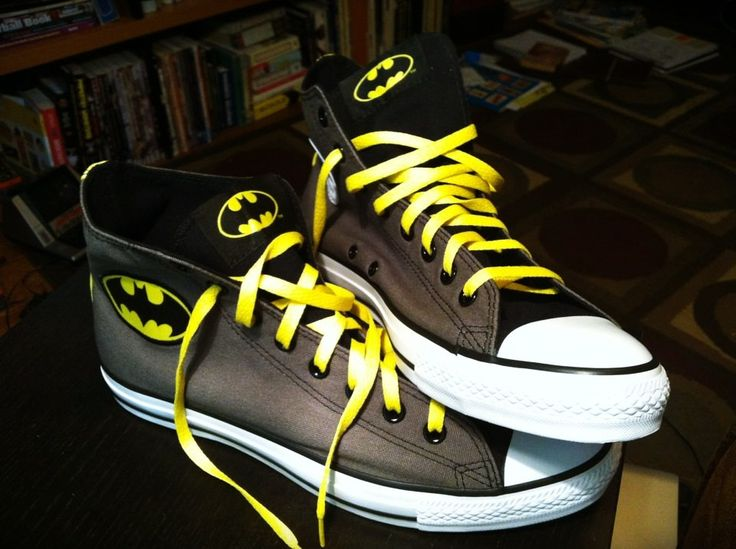 Batman Converse. Need. This reminds me of Andy