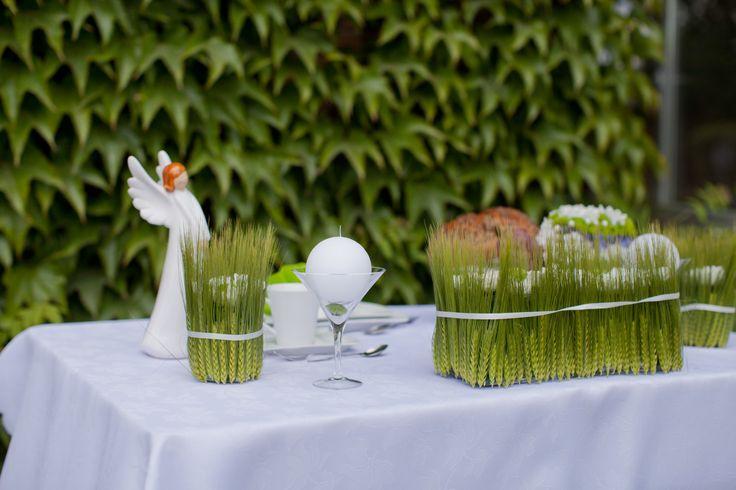 Dekoracja stołu na ślub – zielony ślub na wiosnę #ślub #wedding #dekoracja #wesele #decoration #kwiaty #flowers