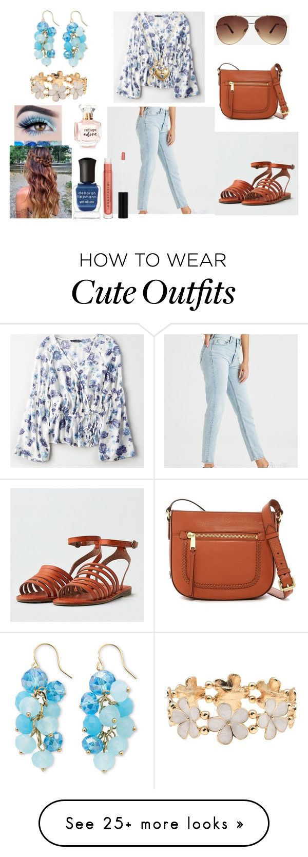 """Cute Spring Outfit"" by holly32196-1 on Polyvore featuring American Eagle Outfitters, Ashley Stewart, Cole Haan, Mixit, Carelle, M&Co, Deborah Lippmann, Disney and Refuge"