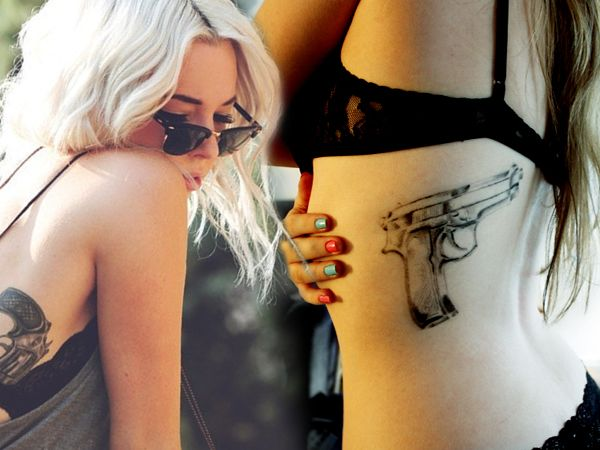 chicas con tatuajes de armas, que mas queres? - Taringa!