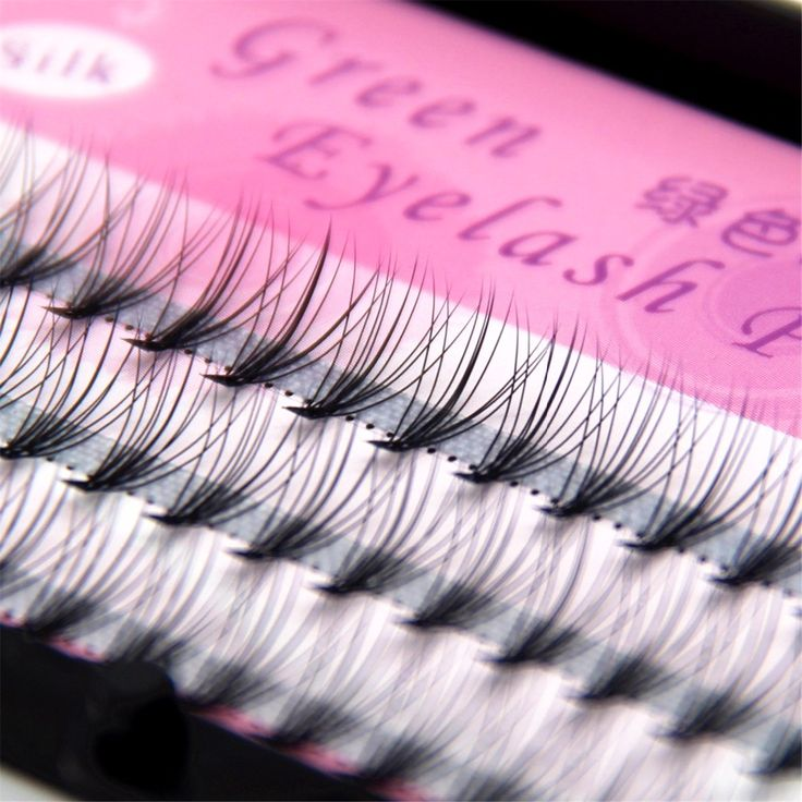 Makeup tool Eyelash Natural Curl False Eyelashes Extension Eyes Tools 6mm 8mm 10mm 12mm  Free Shipping Green Eyelash Product