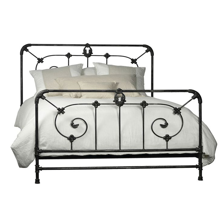 Best Cast Iron Bed Frame With Vintage Black Iron Finish Iron 400 x 300