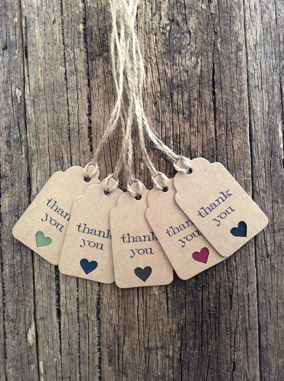 Handmade Thank you tags Packaging tags Rustic by Crafting Emotion $5.00AUD