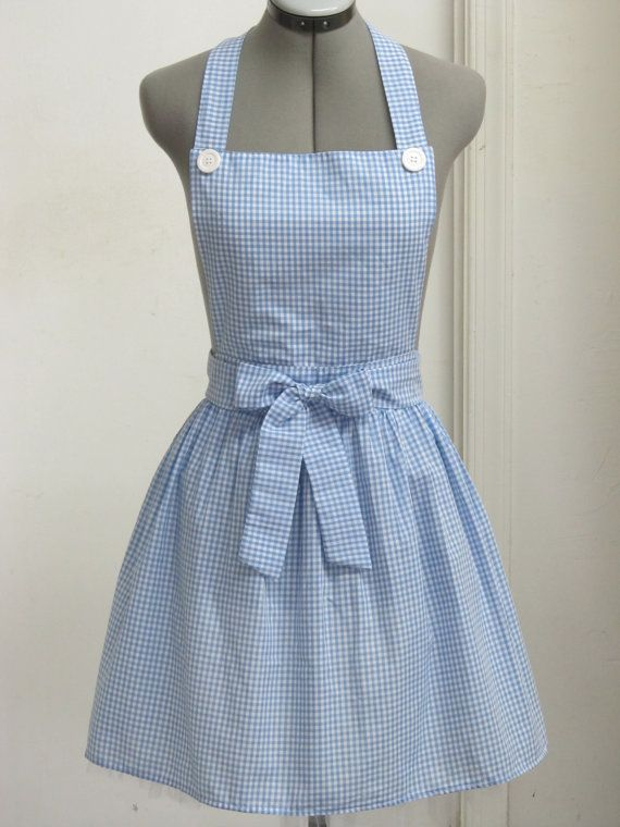 Dorothy from the Wizard of Oz Apron- Great Costume for Halloween- Follow me to the Yellow Brick Road. $32.00, via Etsy.