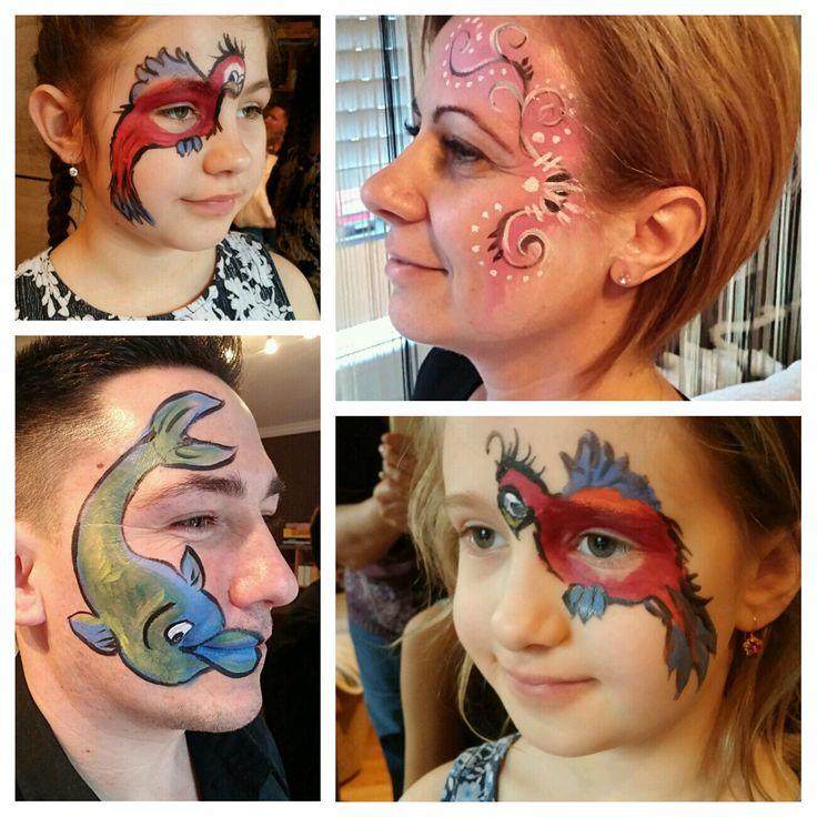 Szülinapi arcfestés: papa, mama gyerekek.