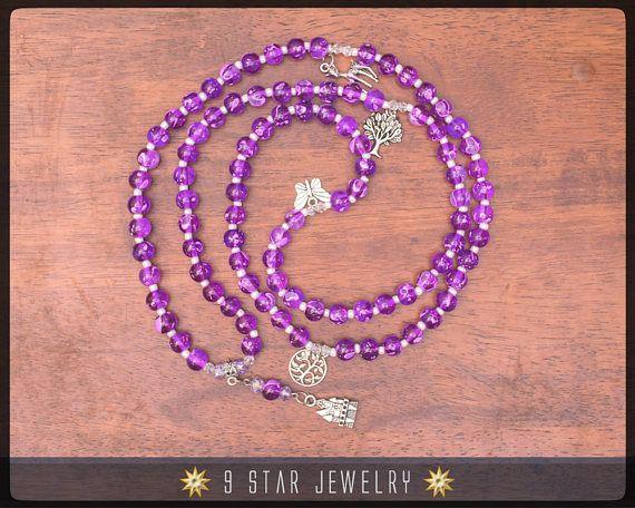 Baha'i Prayer Beads Full 95 (Alláh-u-Abhá) by 9 Star Jewelry #bahai #bahaiprayerbeads #bahaijewelry