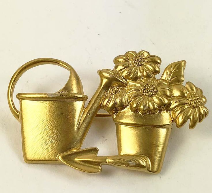 I'm excited to share the latest addition to my #etsy shop: AVON Gardener Brooch - Flower Pot Watering Can Brooch Gold Tone Matter Finish Vintage - Designer Signed http://etsy.me/2CwBkHC #jewelry #brooch #gold #floral #no #women #midcentury #avon #flowerpot
