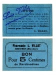 http://vintageprintable.com  Printed matter - Currency - French Token Rieumes Blue