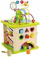 Amazon.com: Hape Country Critters Wooden Activity Play Cube for Toddlers: Toys & Games