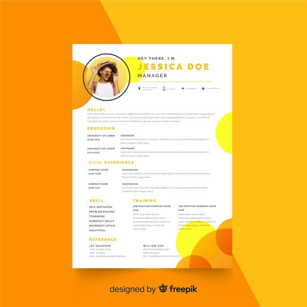 Curriculum Vitae Template With Photo Fre Free Vector Freepik Freevector Freebusiness Fr Curriculum Vitae Template Curriculum Vitae Curriculum Template