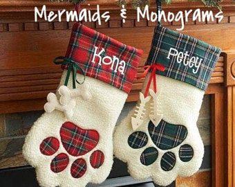 Pet Christmas Stocking   Dog Christmas Stocking   Cat Christmas Stocking   Fur Baby l Christmas l Kitty l Cat l Dog l Puppy l Pets l