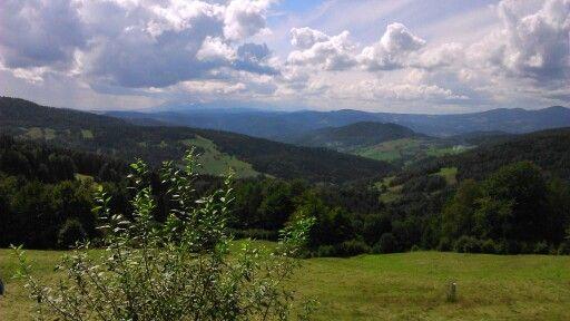 Widok z Bacówki nad Wierchomlą