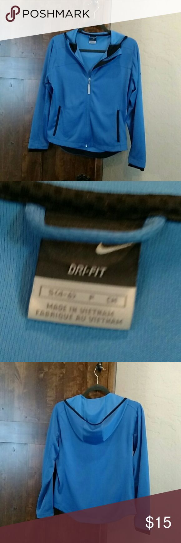 Blue Nike Sport Jacket Perfect condition; rarely worn Nike Jackets & Coats