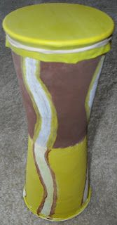 Create Your Own African Djembe Drum using Paper Mache and styrofoam cups