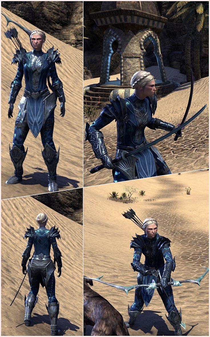 This is quite similar to my outfit for my magicka sorc (in fact I have changed his to be more like this). It's quite expensive but I really love this style.  head: N/A chest: Ebonshado…