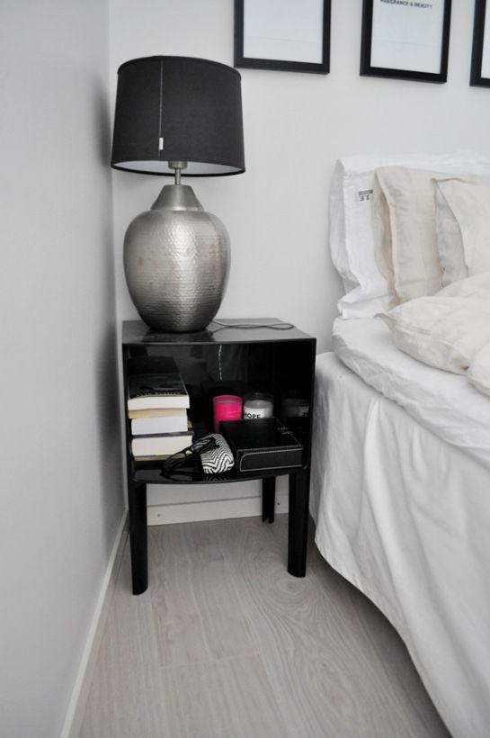 at home by rita   #ikea #åsele #lamp #kartell #ghostbuster #black #beige #linen #h&mhome #bedroom