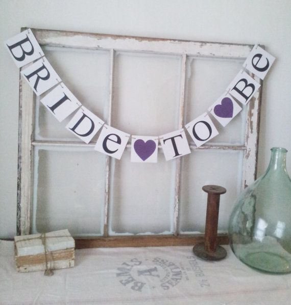 Hey, I found this really awesome Etsy listing at https://www.etsy.com/listing/199907797/bride-to-be-banner-bridal-shower-decor