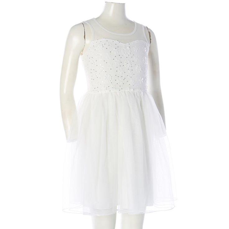 Poofy Mesh Dress (7-16)